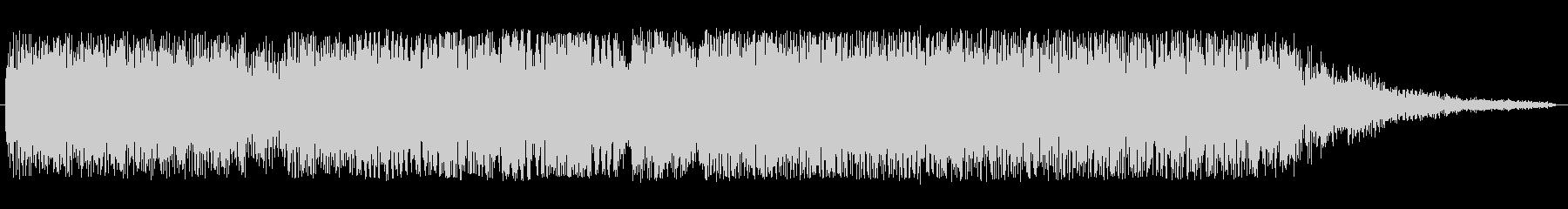 シンセサイザーのオープニング曲の未再生の波形
