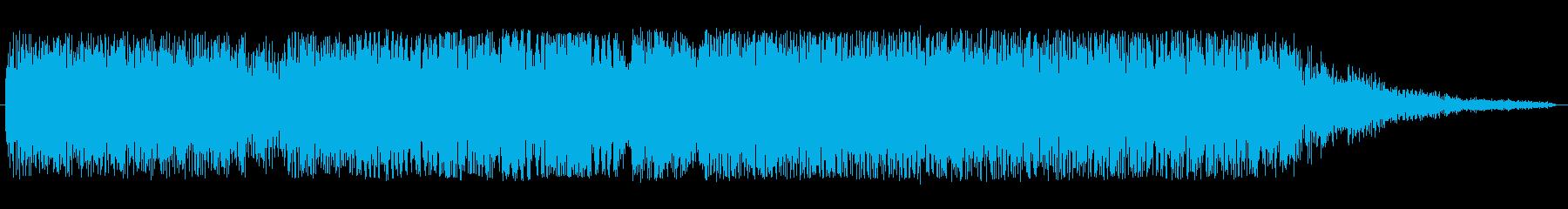 シンセサイザーのオープニング曲の再生済みの波形
