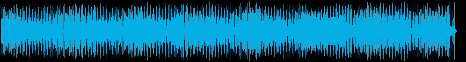 明るくうきうきするシンセサイザーの曲の再生済みの波形
