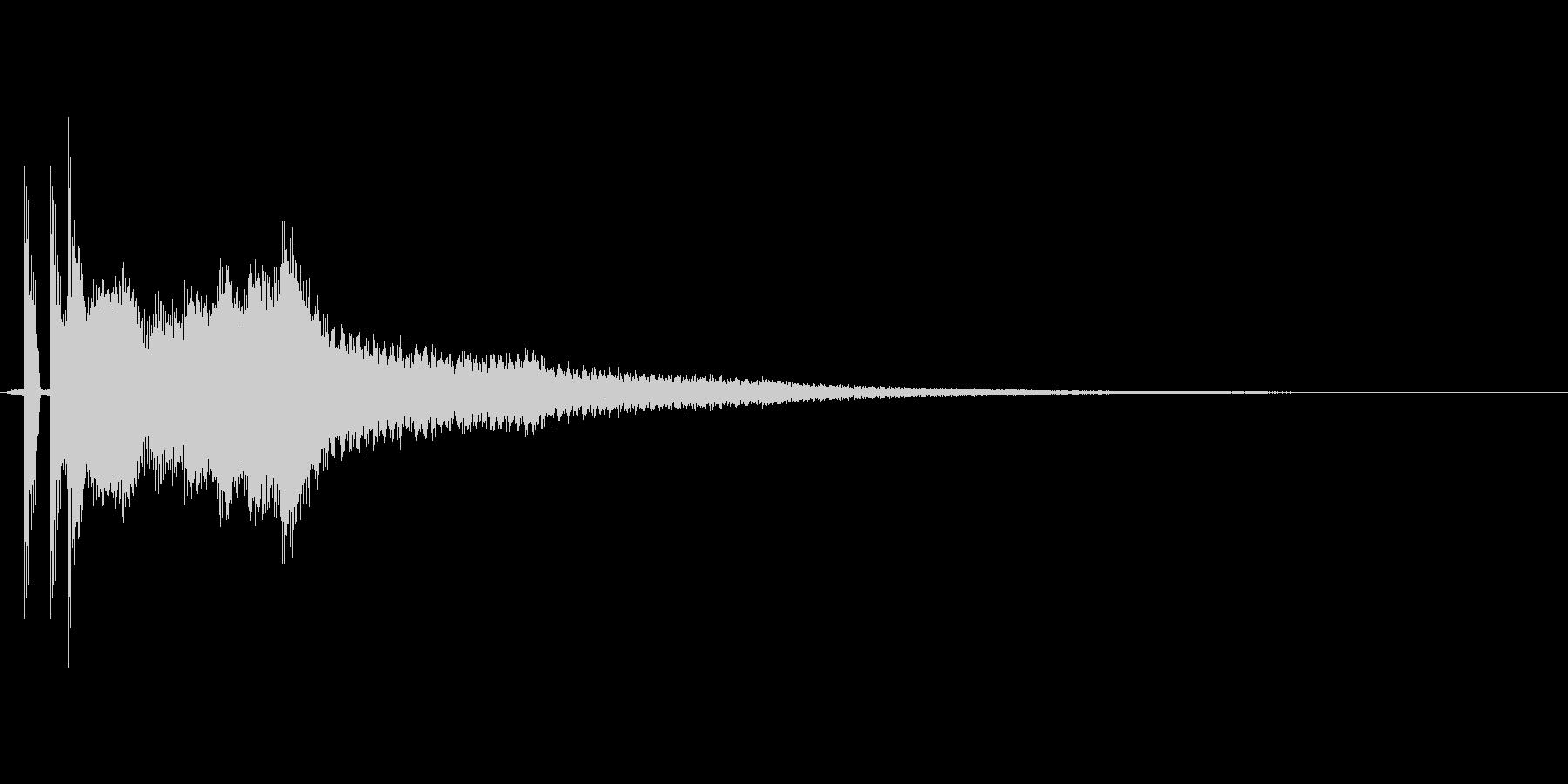 「ポンッキラーン」の未再生の波形