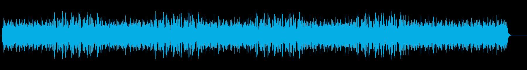 疾走感がありピアノによるハウスの再生済みの波形