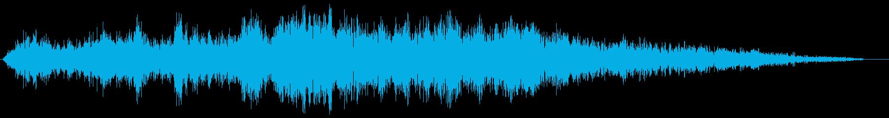 ゴーッ(ジェット機が通過していく効果音)の再生済みの波形