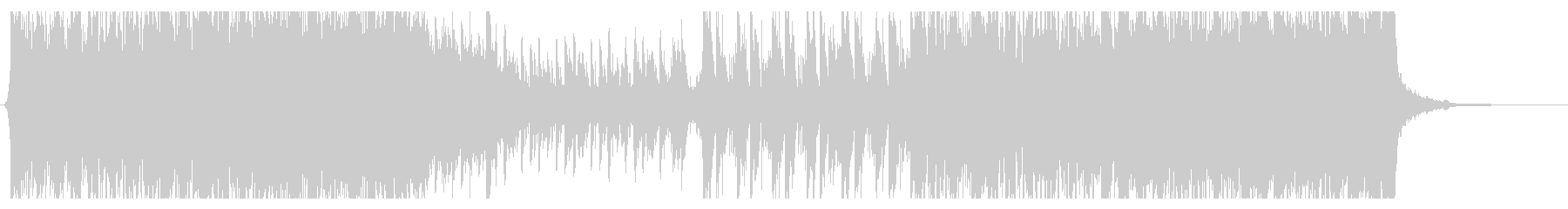EDM風サウンドと弦、ピアノのクールな曲の未再生の波形