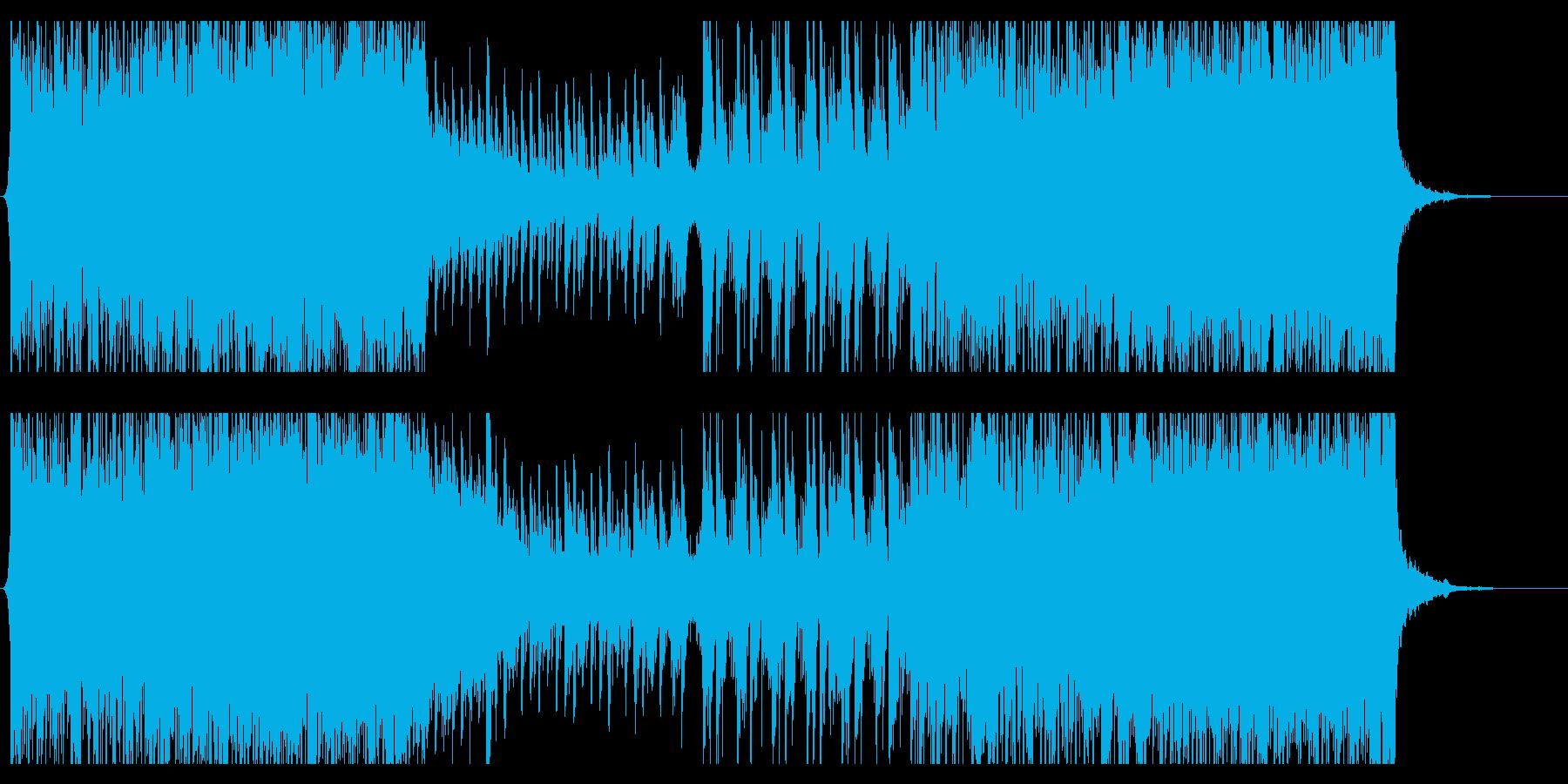 EDM風サウンドと弦、ピアノのクールな曲の再生済みの波形