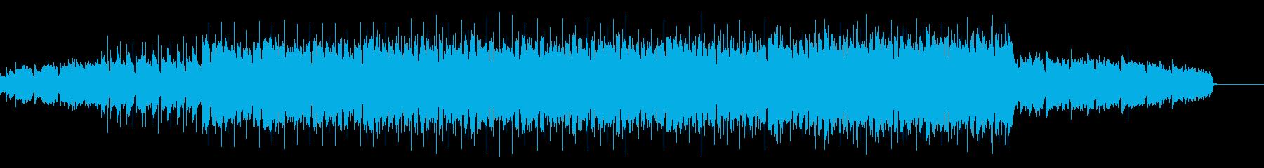 シンセサイザー多めのファンキーハウスの再生済みの波形