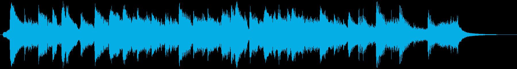 ビッグバンドジャズのスローなBGM1の再生済みの波形