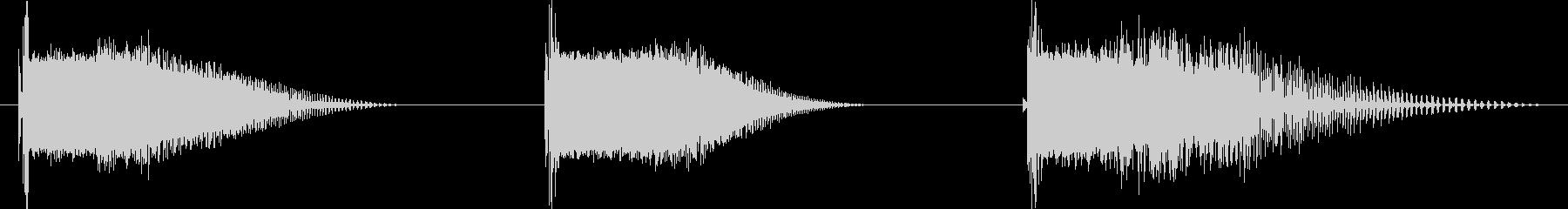 フィクション 電力装置 グリッチ04の未再生の波形