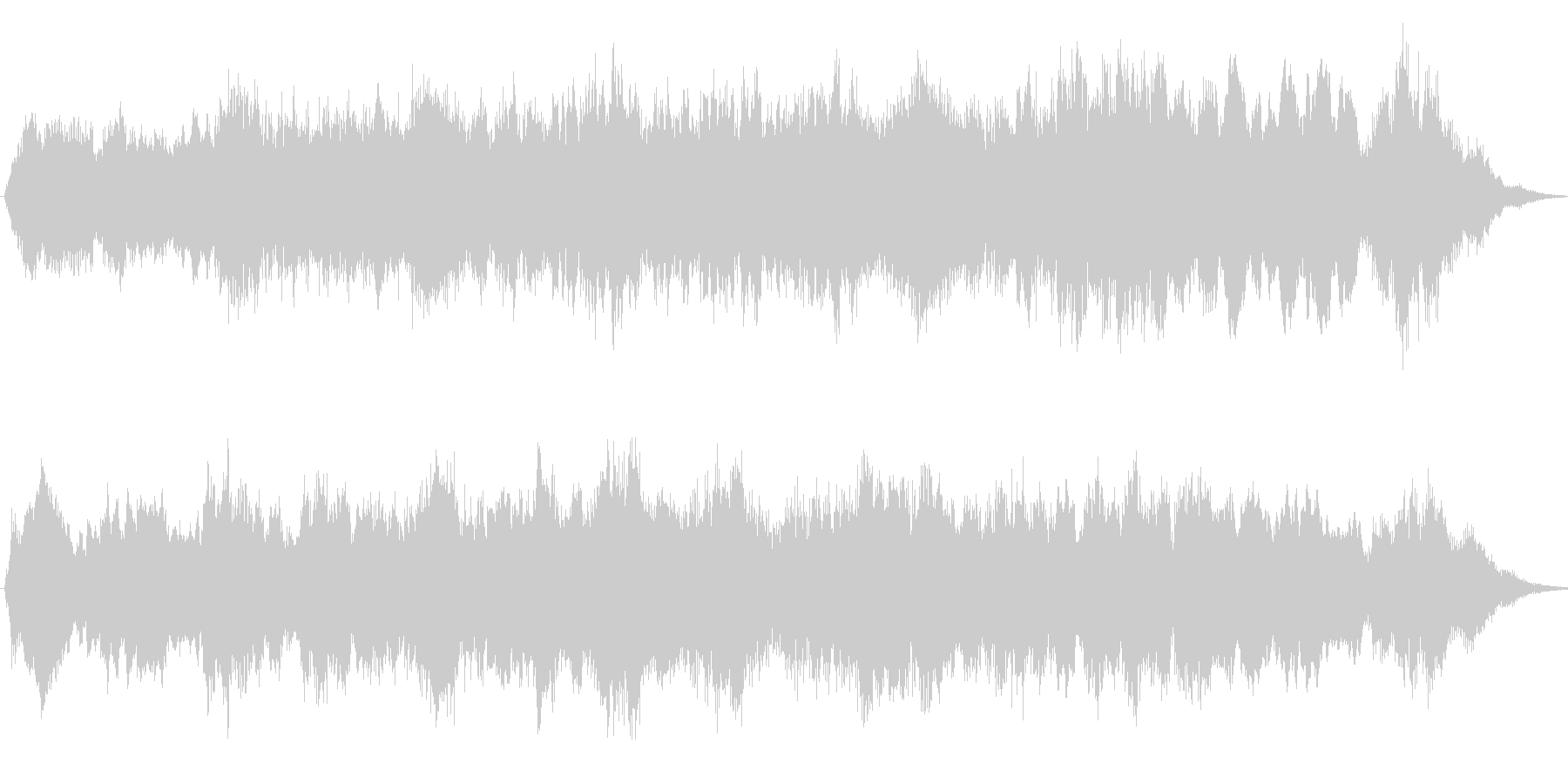 G線上のアリア・優雅な弦楽合奏15sの未再生の波形