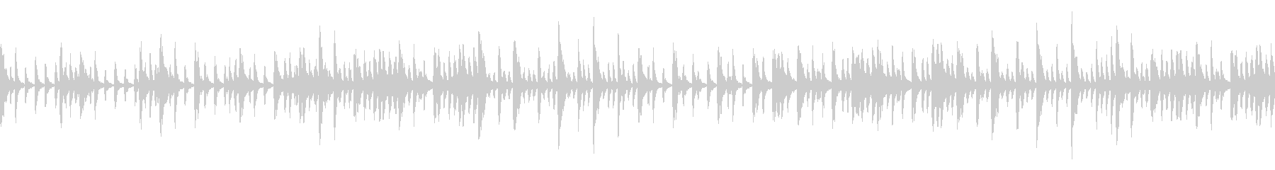 不思議な雰囲気のBGM(ループ仕様)の未再生の波形