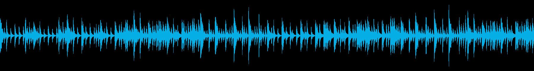 不思議な雰囲気のBGM(ループ仕様)の再生済みの波形