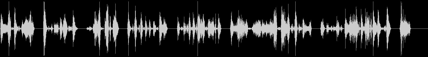 ゾンビの悪質な攻撃8-15の未再生の波形