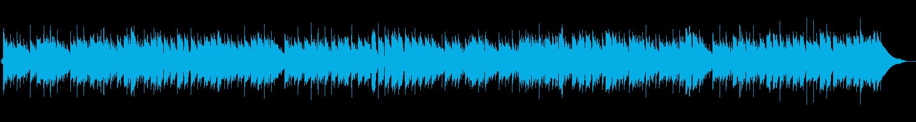 うきうきするポップなクリスマス風BGMの再生済みの波形