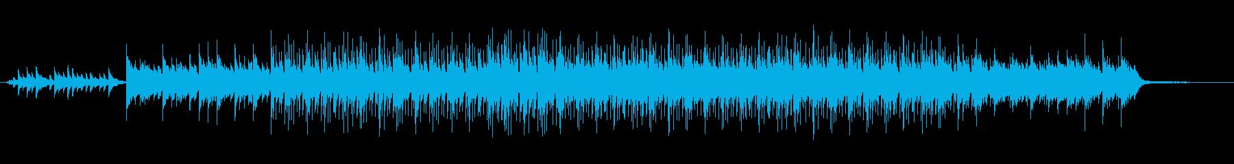 落ち着いたエンディング風のポップスの再生済みの波形