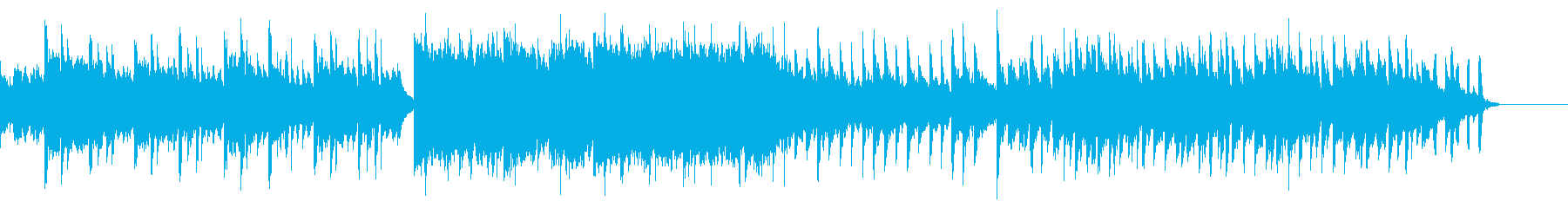 鈴の音が爽やかな印象の曲の再生済みの波形