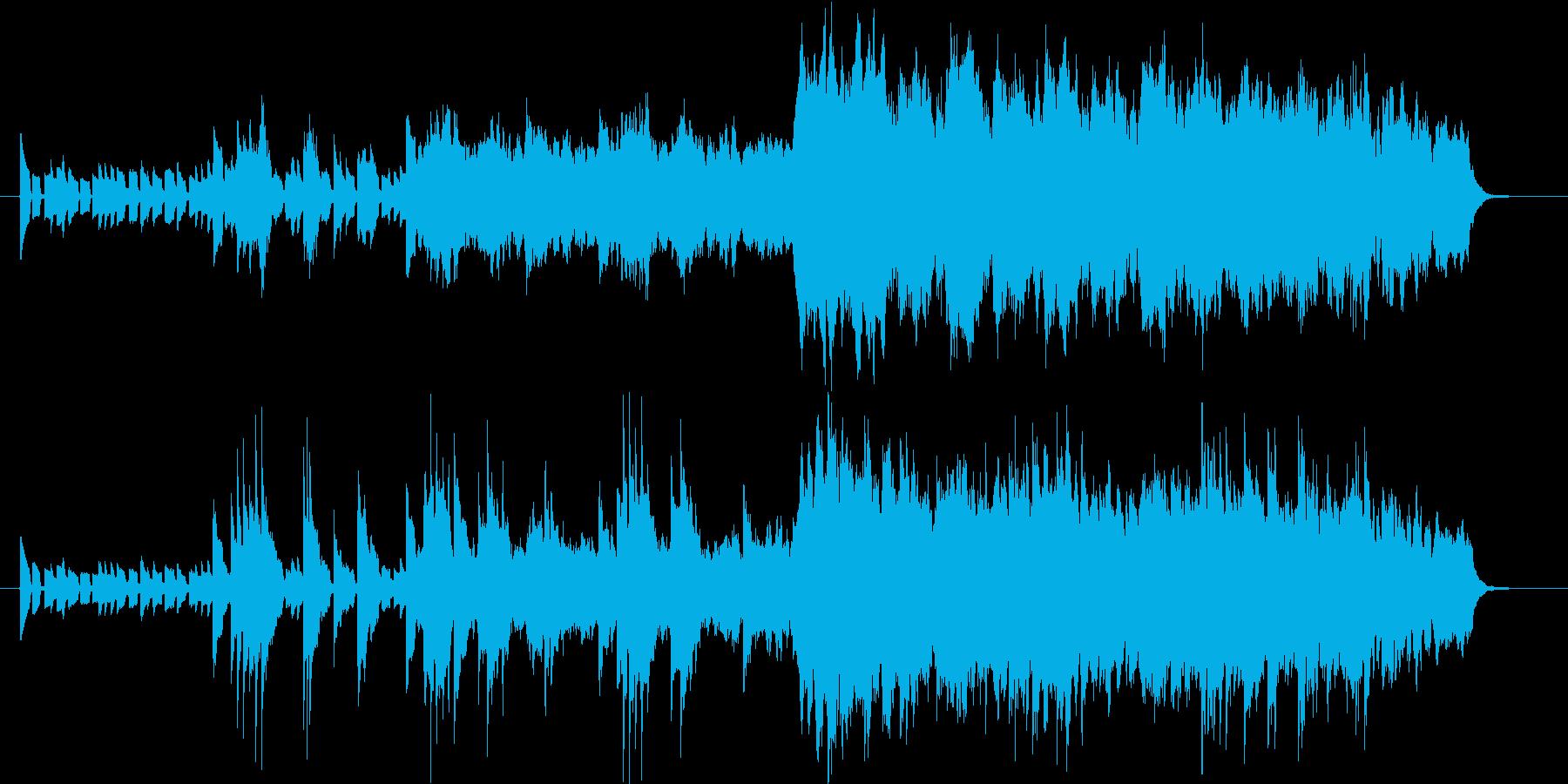 神秘的なイメージのピアノの曲の再生済みの波形