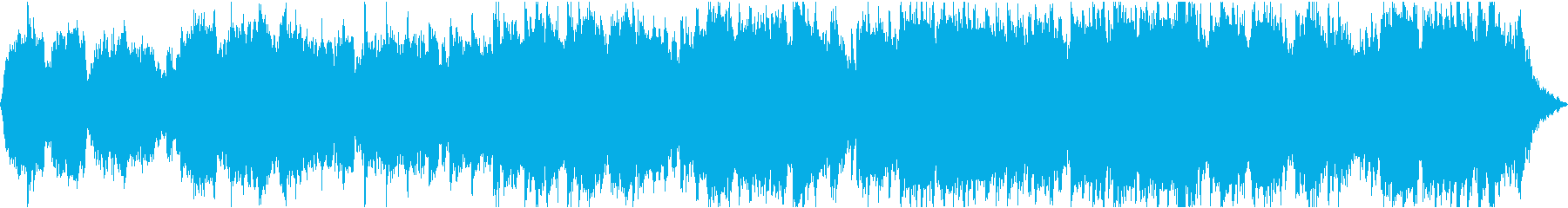 静かで幻想的な笛とシンセサイザーの再生済みの波形