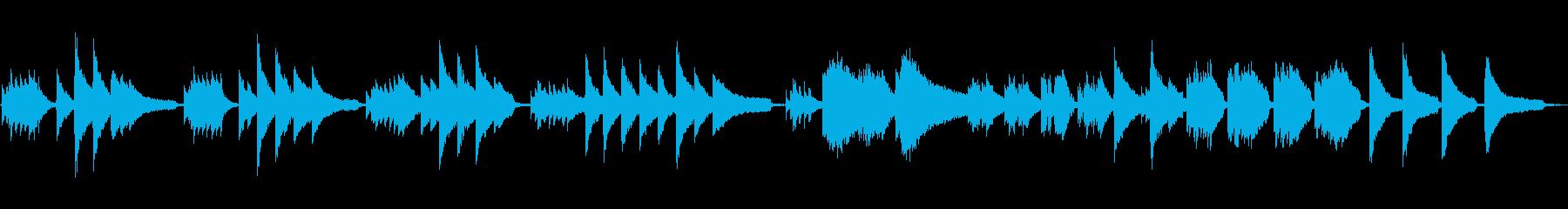ピアノソロの鬱な曲想_filterありの再生済みの波形