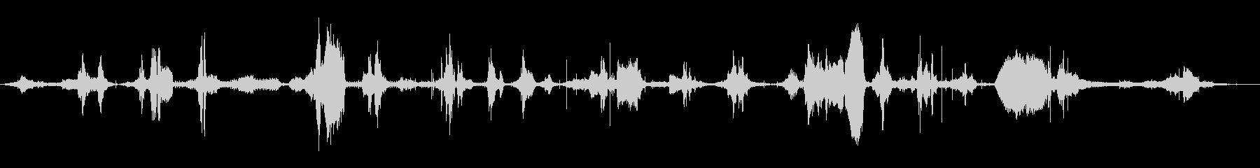 ラジオチューニング音 の未再生の波形