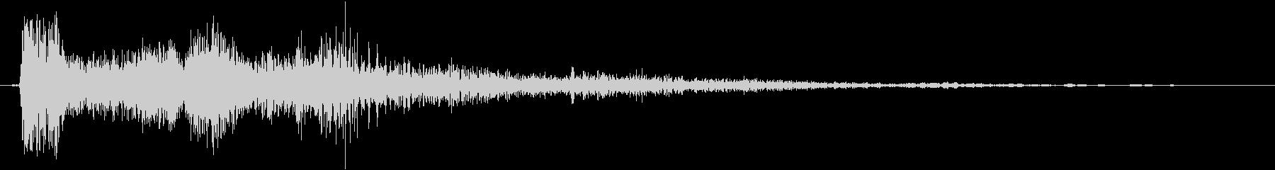 ショットガンの発砲音の未再生の波形
