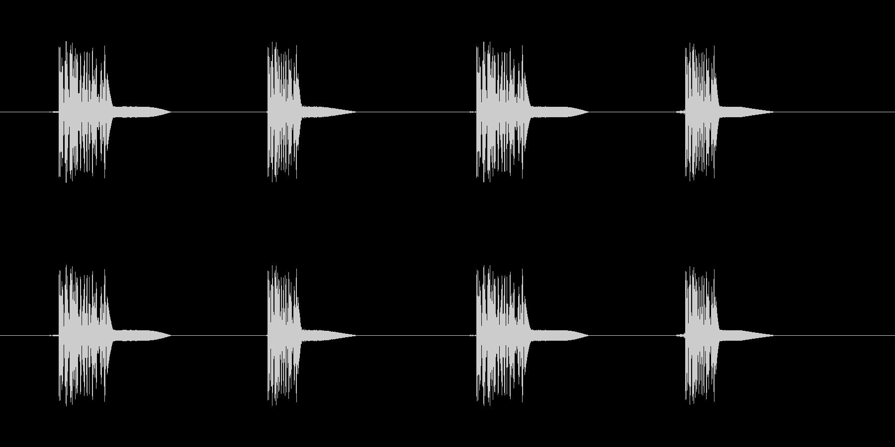 ファミコン系歩く音04 ループ トコトコの未再生の波形