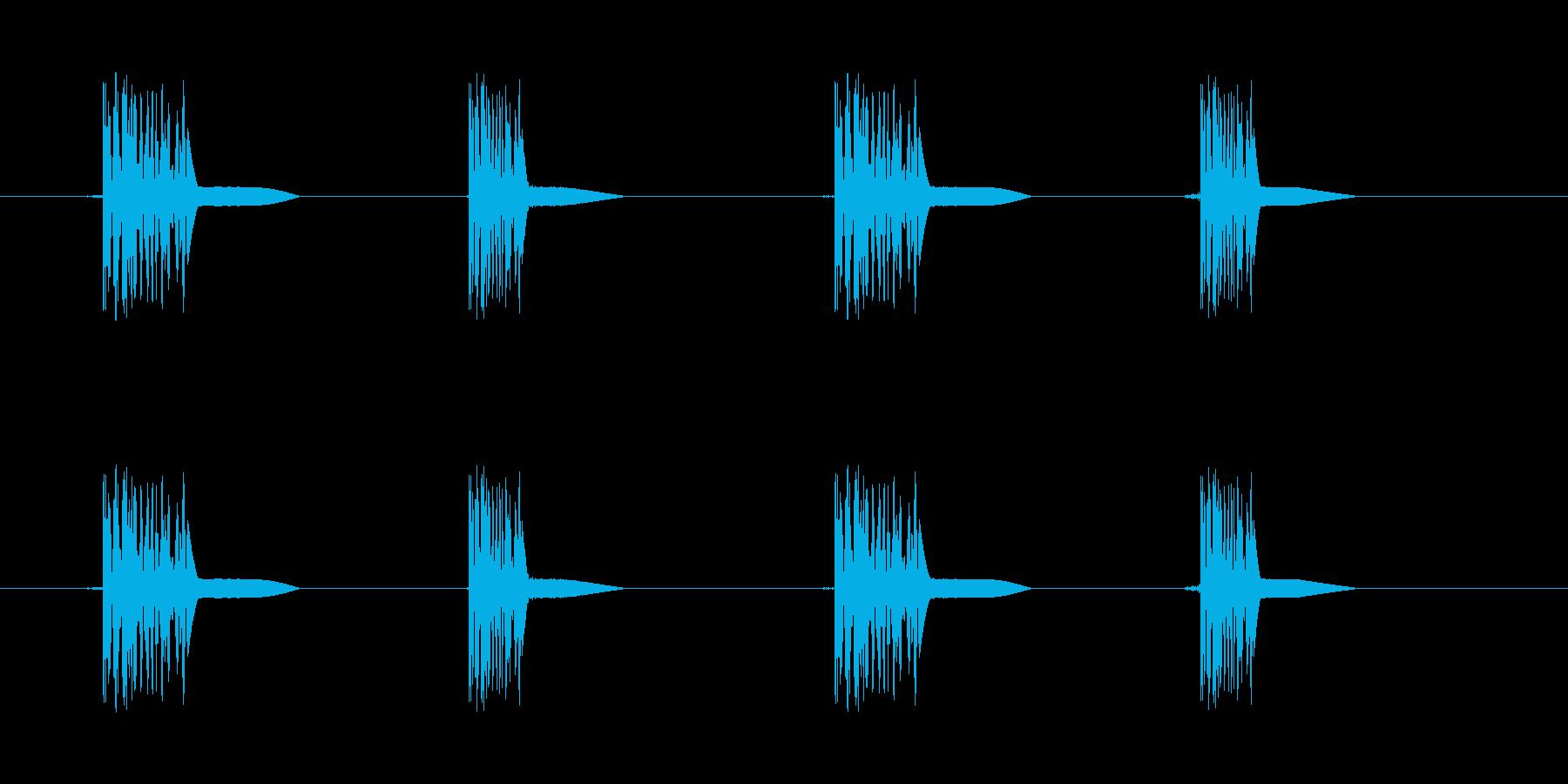 ファミコン系歩く音04 ループ トコトコの再生済みの波形