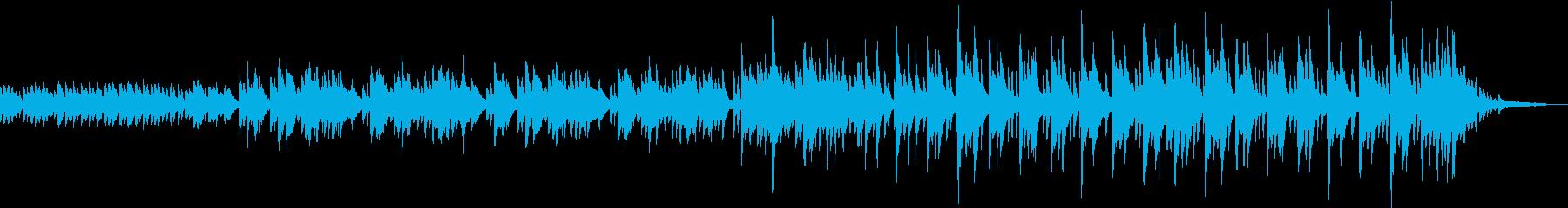 ピアノソロの壮大なバラードの再生済みの波形