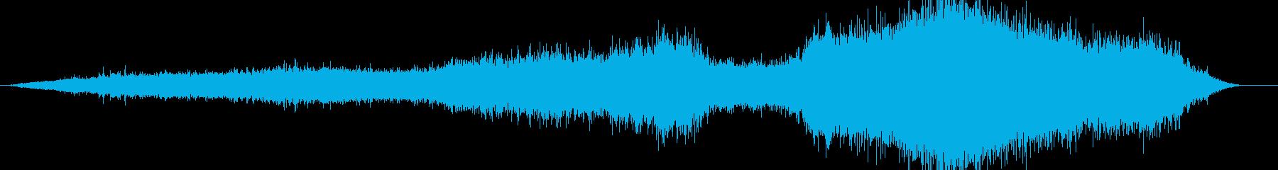 電車の走行音 電車内 バイノーラル録音の再生済みの波形