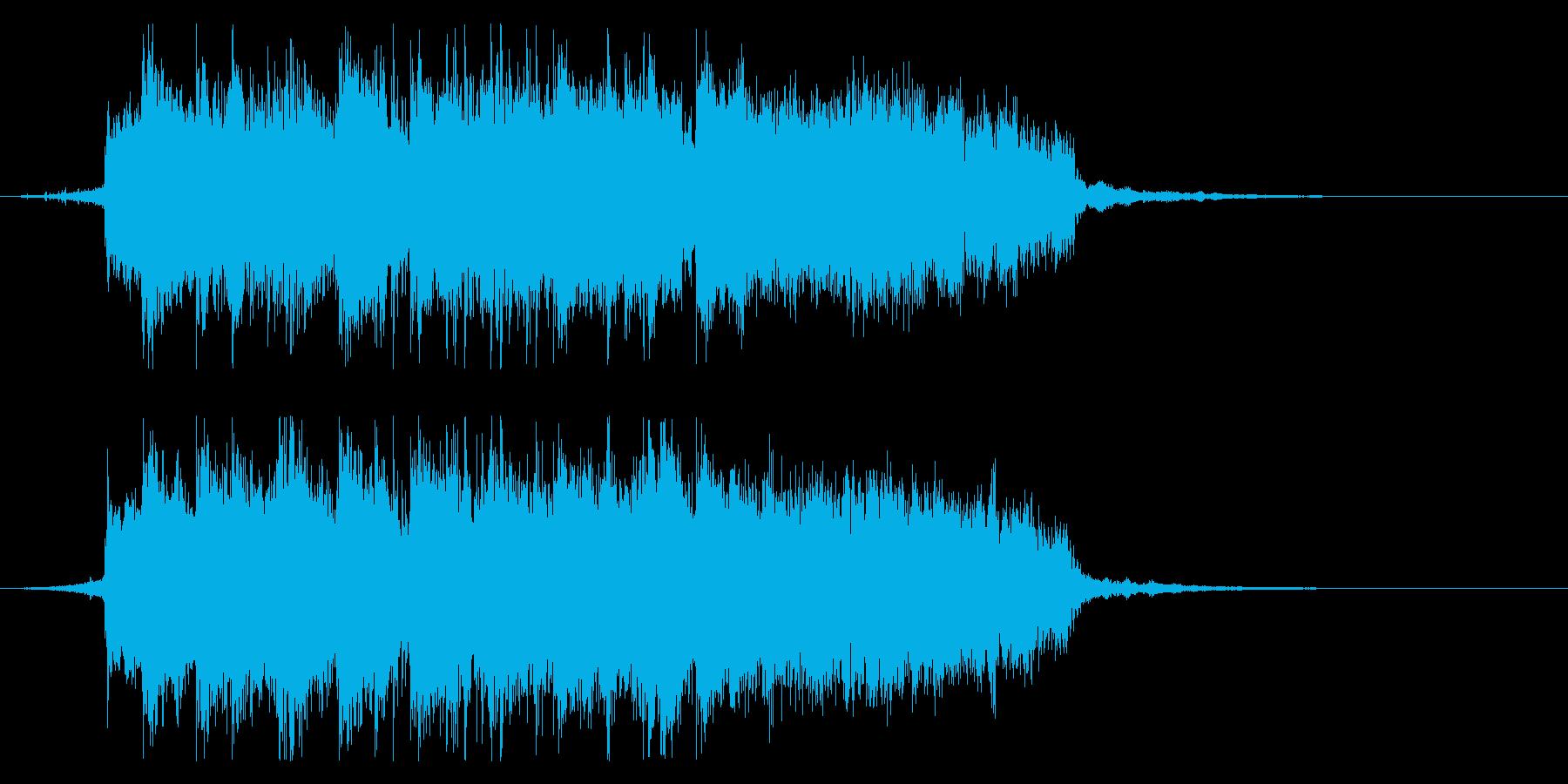 おしゃれなロックフュージョン ジングルの再生済みの波形