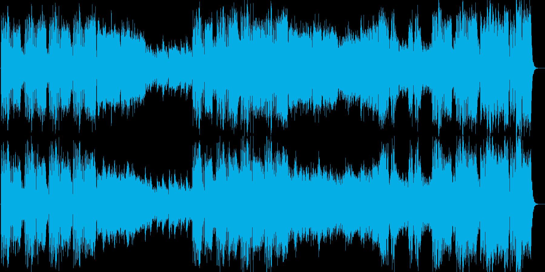 決意を感じさせる重厚で力強い管弦楽曲の再生済みの波形