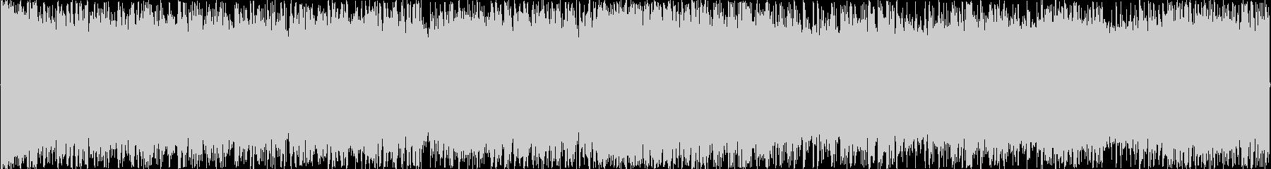 シンプルな疾走感溢れるロックループBGMの未再生の波形