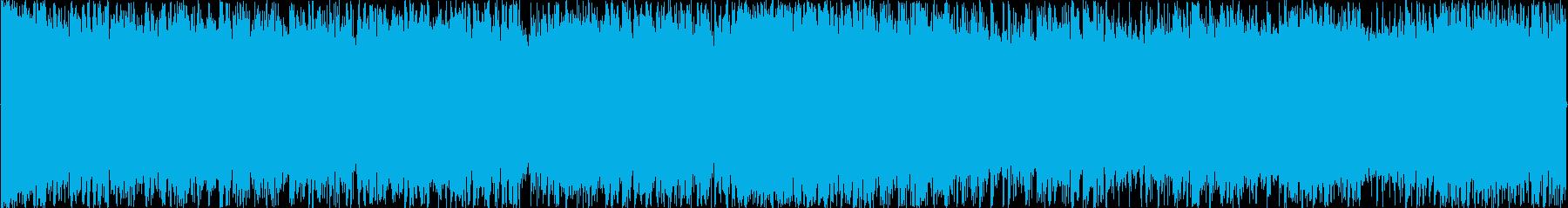 シンプルな疾走感溢れるロックループBGMの再生済みの波形
