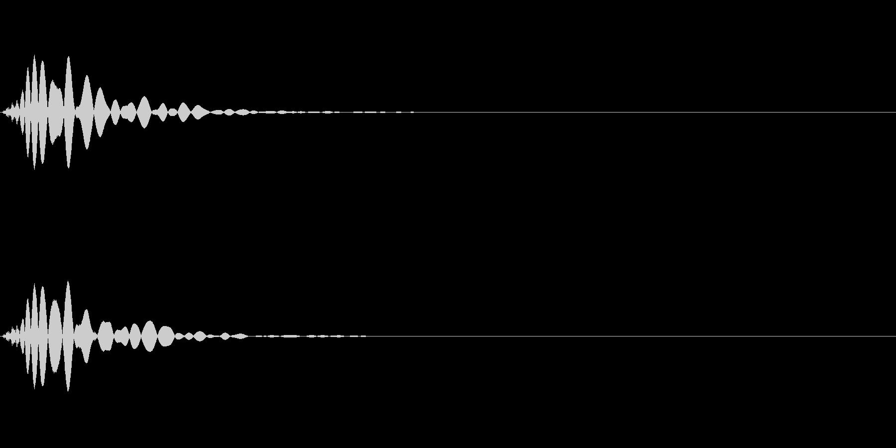 ミックス処理済みキック(単発)_03の未再生の波形