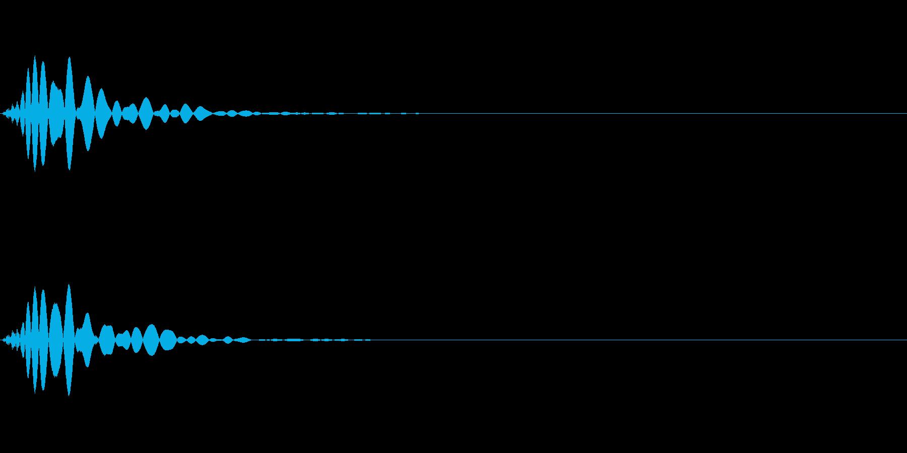 ミックス処理済みキック(単発)_03の再生済みの波形