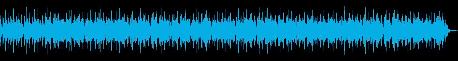 ハープと川のせせらぎのゆったりカノンの再生済みの波形
