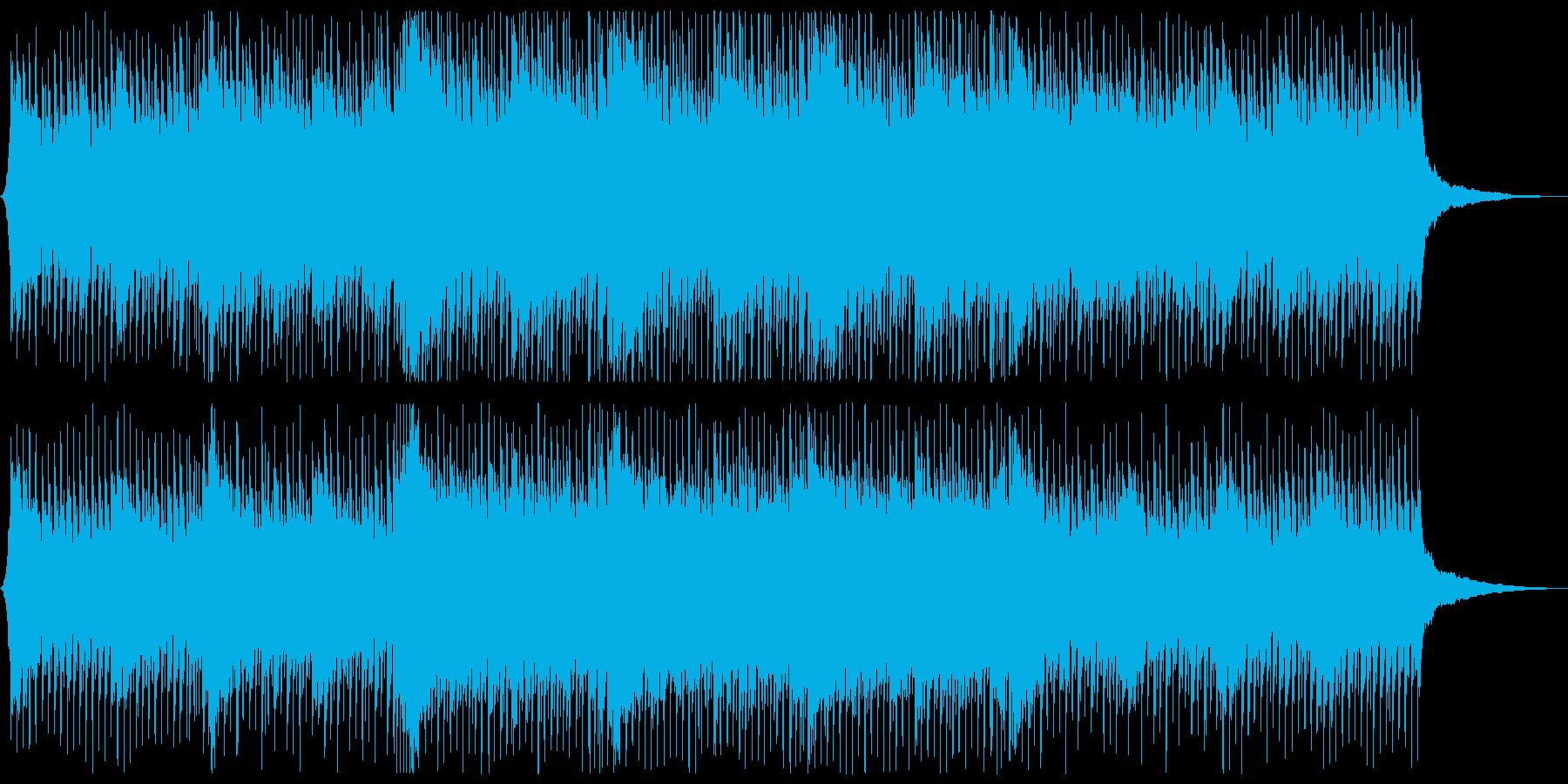 爽やかで前向きなポップスの再生済みの波形