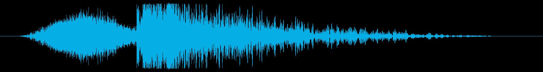 宇宙粒子爆発の再生済みの波形