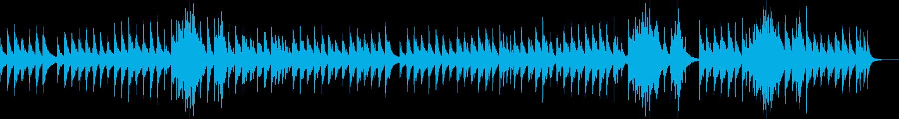 ハープの音色が優しく響きます。の再生済みの波形
