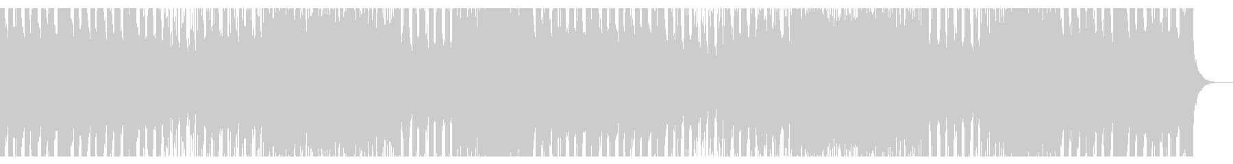 ハッピーでハイテンションなポップロックの未再生の波形