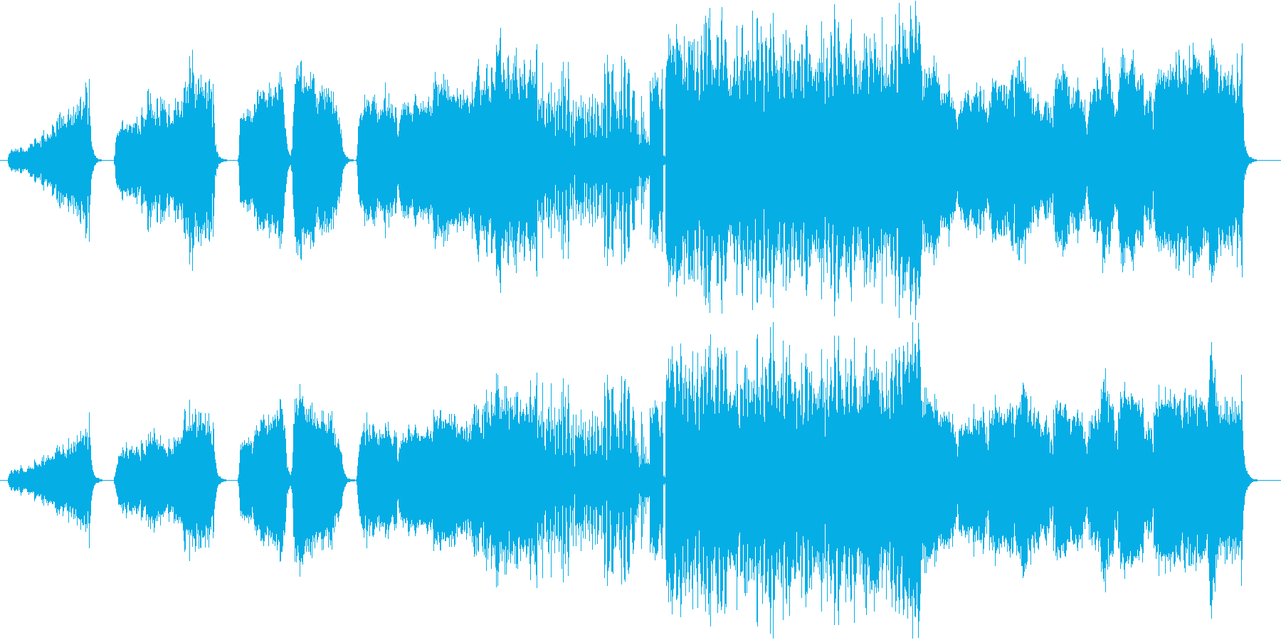 攻殻機動隊?ブルガリアンヴォイスのEDMの再生済みの波形