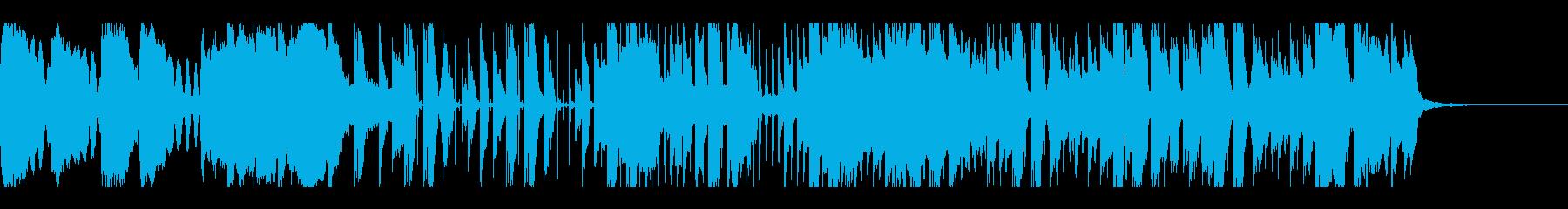 コミカルなシンセリズムテクノの再生済みの波形
