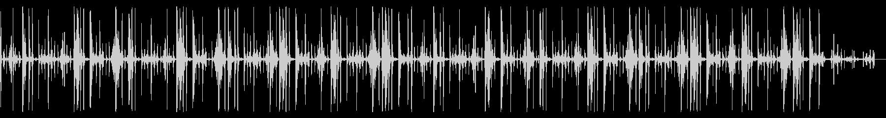 キックなし、119 BPMの未再生の波形