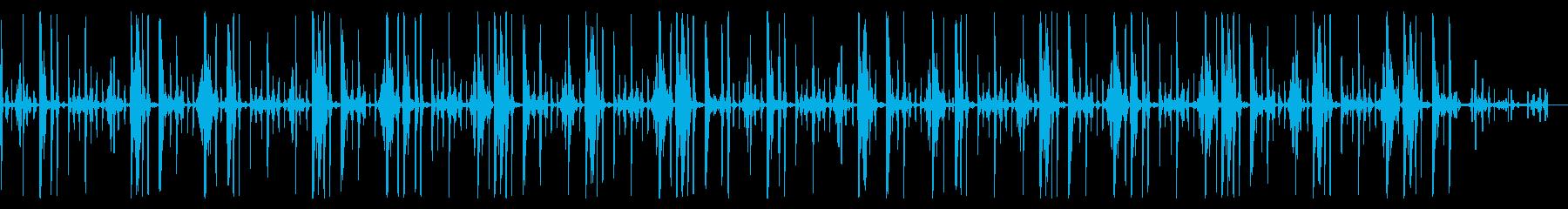 キックなし、119 BPMの再生済みの波形