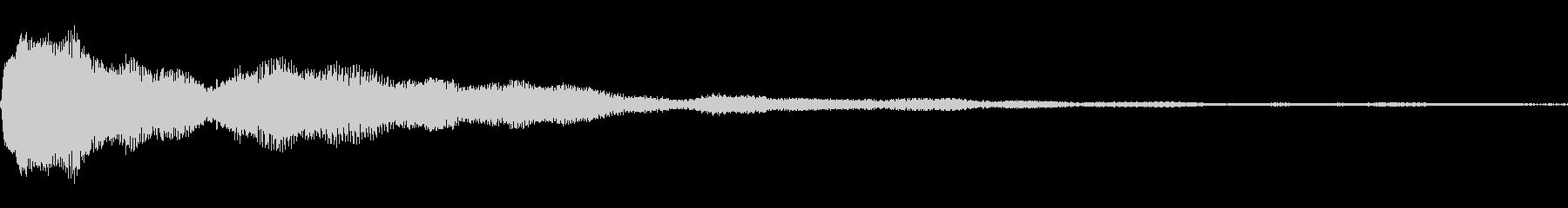 決定音に使えそうな電子音の未再生の波形