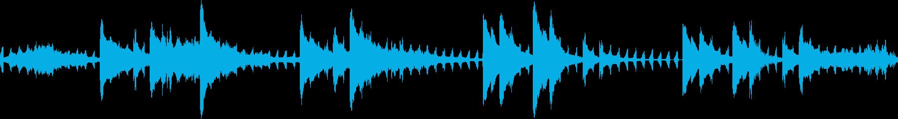 神秘的で透明感のあるBGMの再生済みの波形