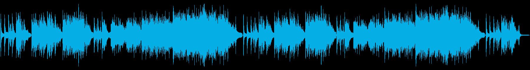 シリアスで幻想的なピアノソロ曲の再生済みの波形
