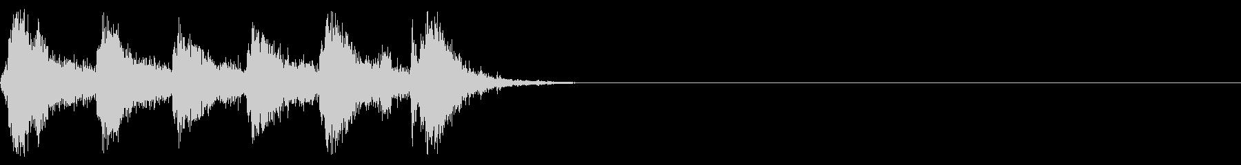 ライフル型エアガン 発砲音(6連射)の未再生の波形