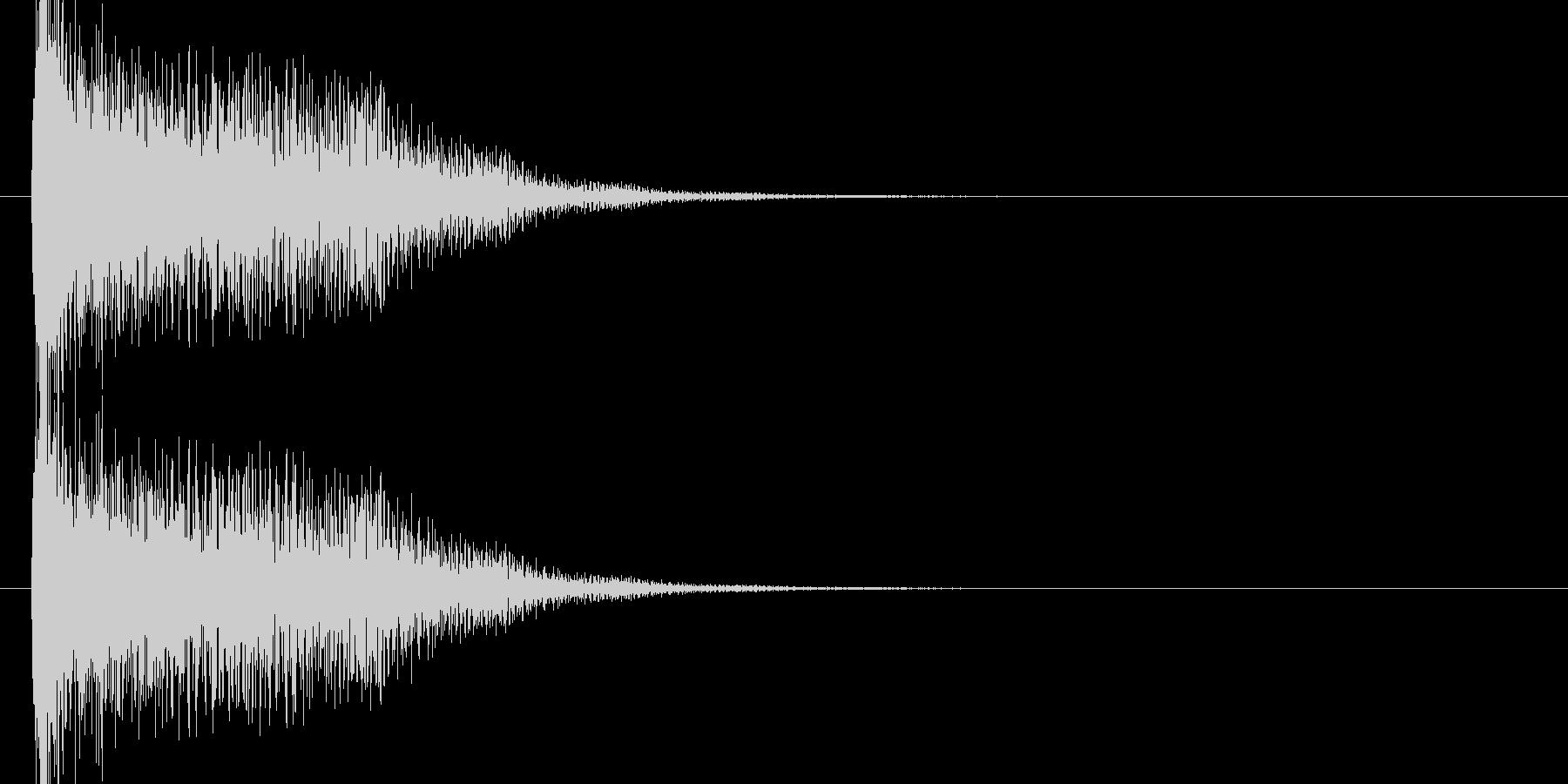 未来的なシンセのオケヒ起動 スタート音2の未再生の波形
