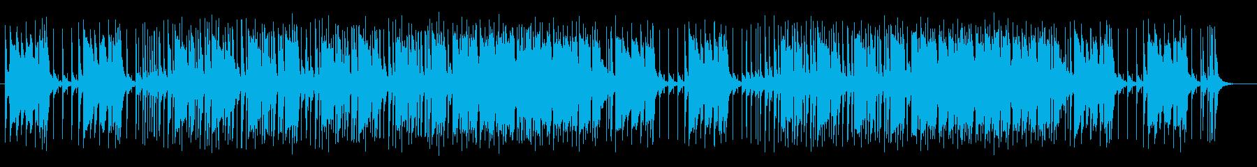 電子ピアノとドラムのパワフルなロックの再生済みの波形