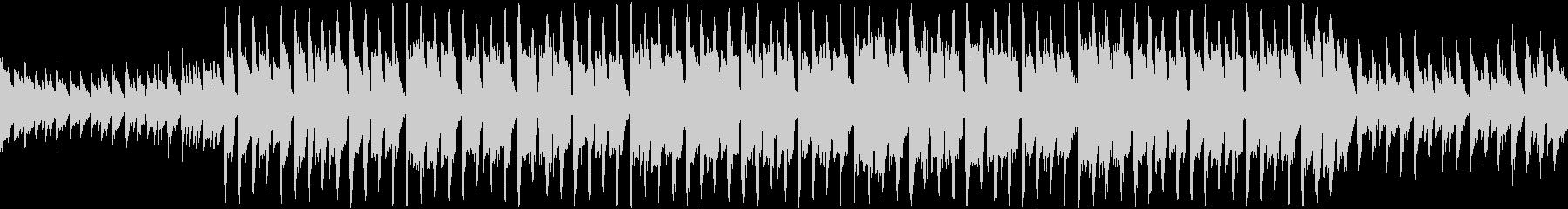 ピアノとシンセのシリアスなループ曲の未再生の波形