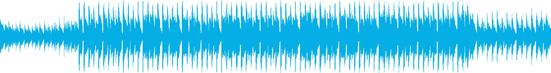 ピアノとシンセのシリアスなループ曲の再生済みの波形